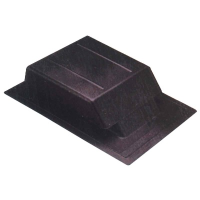Airhawk 61 In. Black Plastic Slant Back Roof Vent