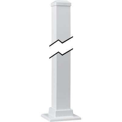 Gilpin Summit Series 2-1/2 In. x 2-1/2 In. x 43 In. White Aluminum Newel Post