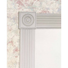 House of Fara 7/8 In. x 3-1/2 In. Primed MDF Rosette Image 3