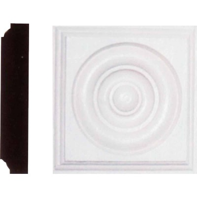 House of Fara 1-1/8 In. x 4-1/2 In. Primed MDF Rosette