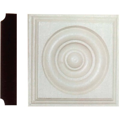 House of Fara 1-1/8 In. x 5-1/2 In. Primed MDF Rosette