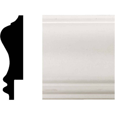House of Fara 3/4 In. W. x 2-3/4 In. H. x 8 Ft. L. White MDF Wainscot Chair Rail Molding