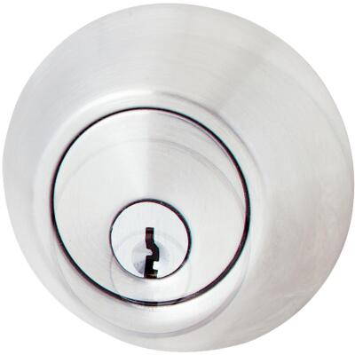 Steel Pro Satin Chrome Kwikset Double Cylinder Deadbolt
