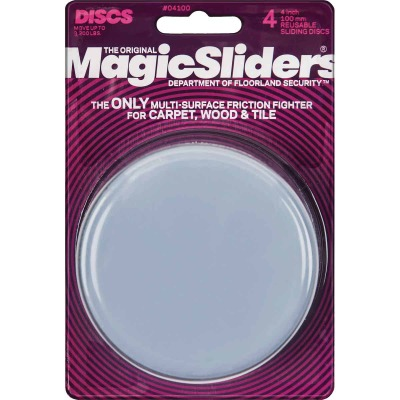 Magic Sliders 4 In. Round Furniture Glide,(4-Pack)