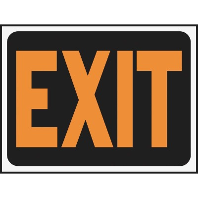 Hy-Ko Plastic Sign, Exit