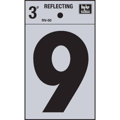 Hy-Ko Vinyl 3 In. Reflective Adhesive Number Nine