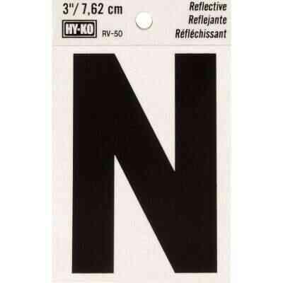 Hy-Ko Vinyl 3 In. Reflective Adhesive Letter, N