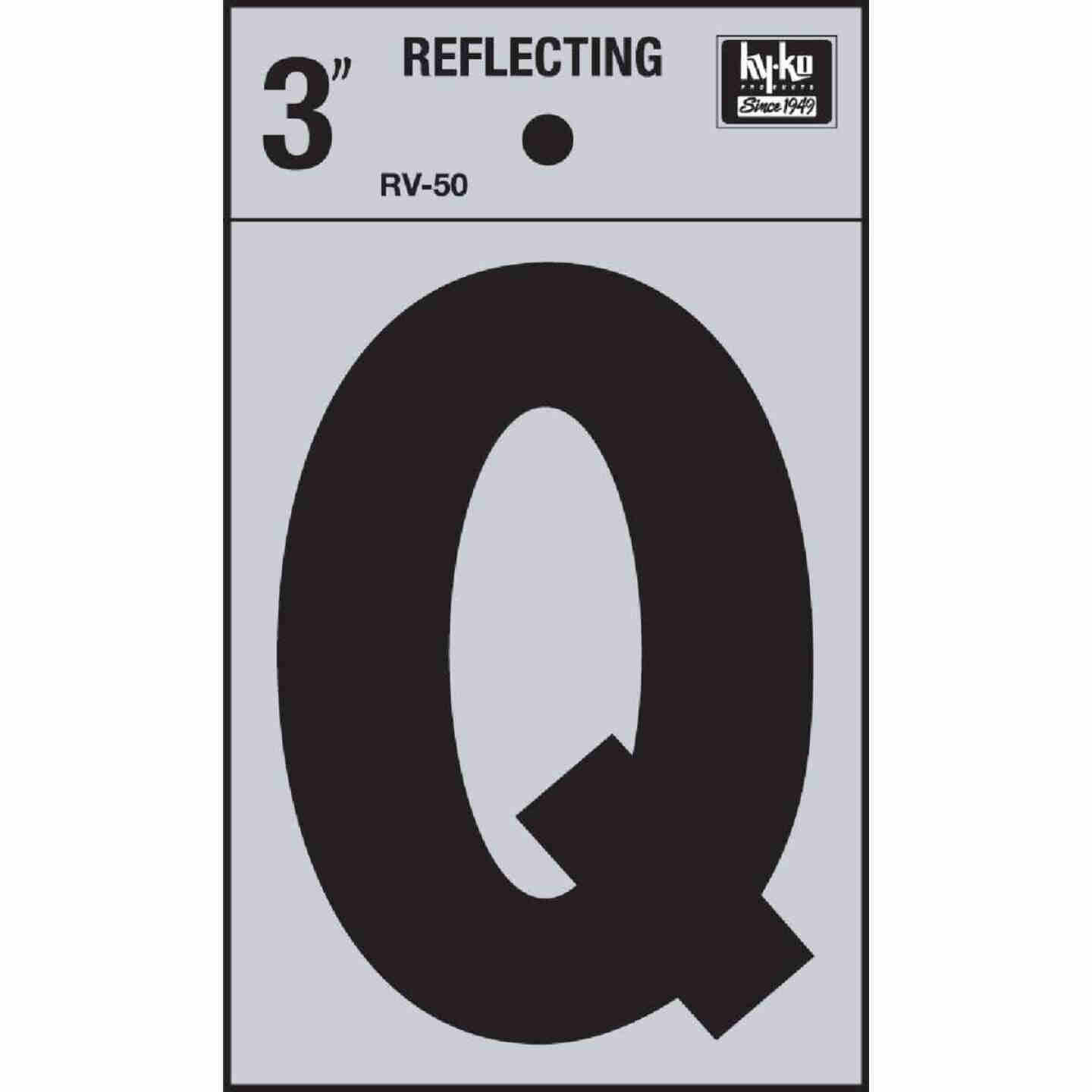 Hy-Ko Vinyl 3 In. Reflective Adhesive Letter, Q Image 1