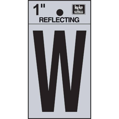 Hy-Ko Vinyl 1 In. Reflective Adhesive Letter, W