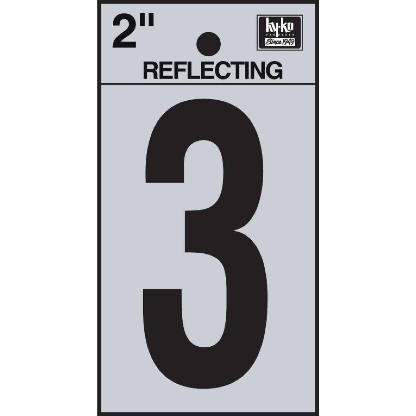 Hy-Ko Vinyl 2 In. Reflective Adhesive Number Three Image 1
