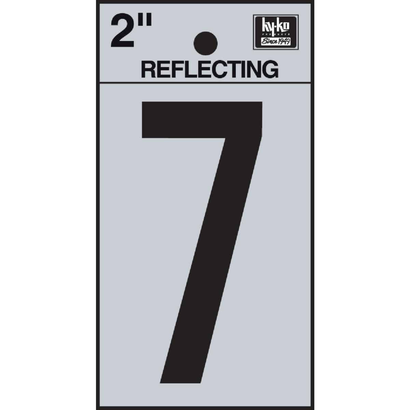 Hy-Ko Vinyl 2 In. Reflective Adhesive Number Seven Image 1