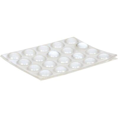Magic Sliders 3/8 In. Round Clear Furniture Bumpers,(20-Count)
