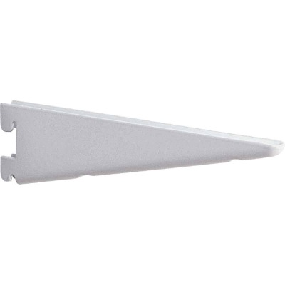 Knape & Vogt 182 Series 9 In. White Steel Heavy-Duty Double-Slot Shelf Bracket