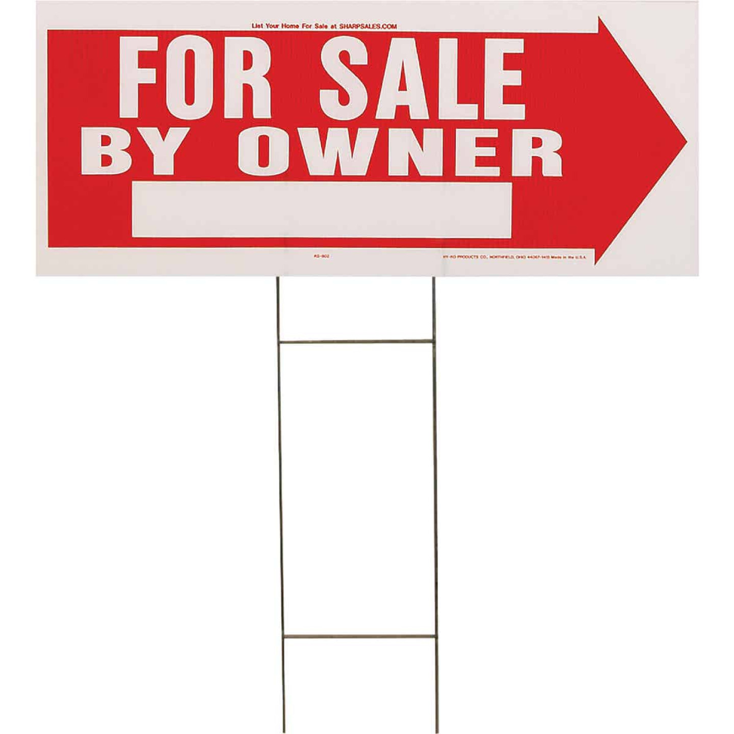 Hy-Ko Corrugated Plastic Sign, For Sale By Owner Image 1