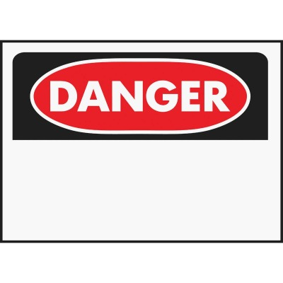Hy-Ko Polyethylene Sign, Danger-Blank