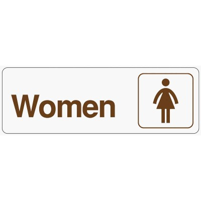 Hy-Ko Deco Series Plastic Restroom Sign, Women