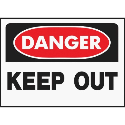 Hy-Ko Polyethylene Sign, Danger Keep Out