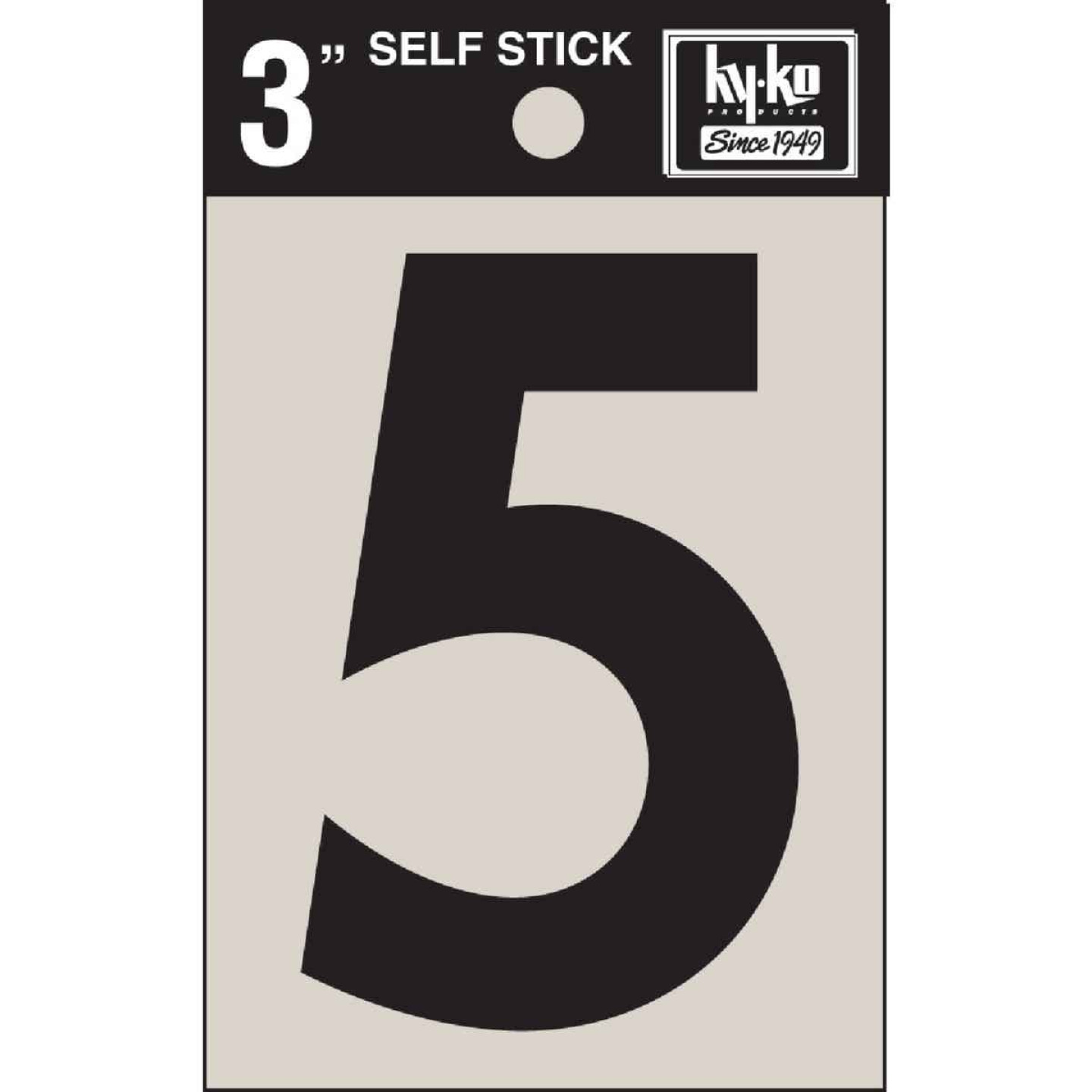 Hy-Ko Vinyl 3 In. Non-Reflective Adhesive Number Five Image 1