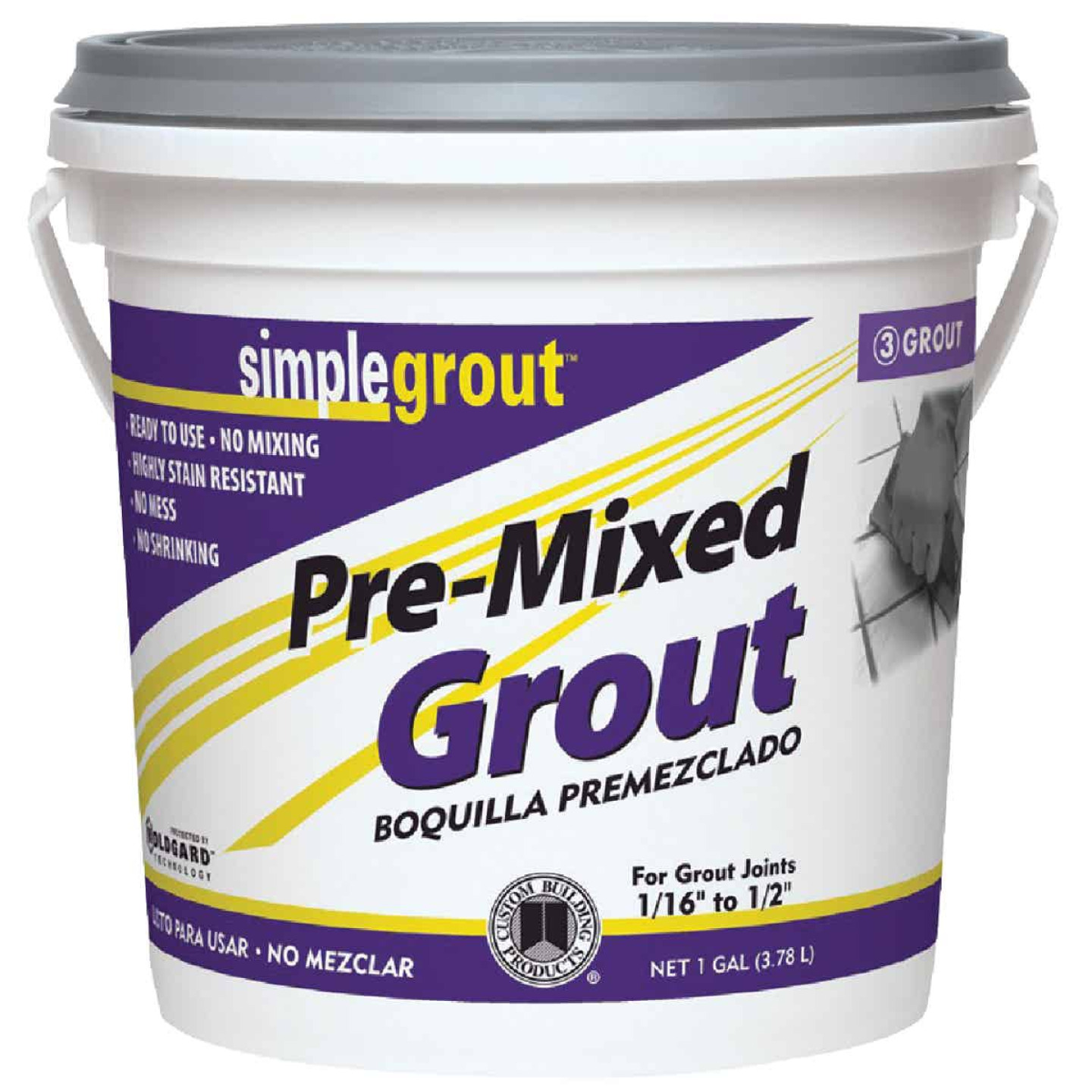 Custom Building Products Simplegrout Gallon Bright White Pre-Mixed Tile Grout Image 1