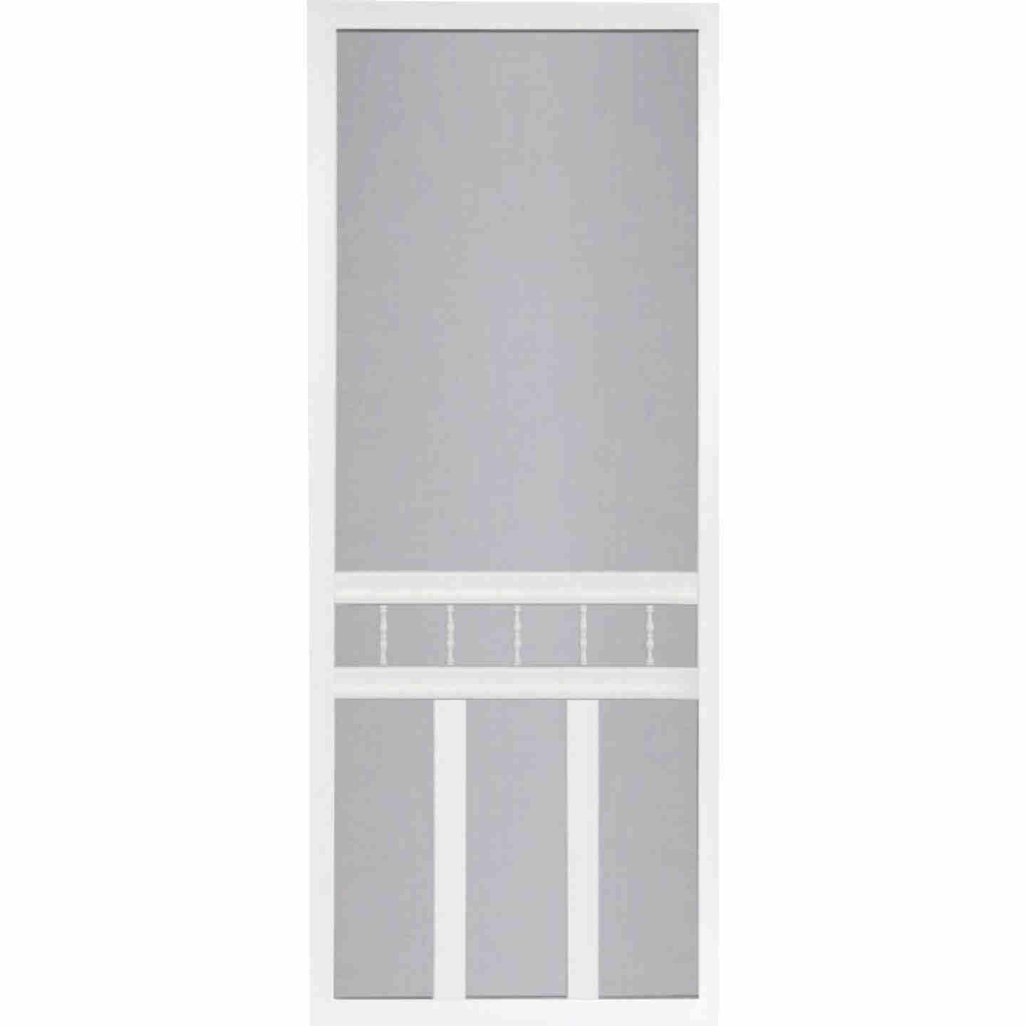 Screen Tight Waccamaw 36 In. W x 80 In. H x 1 In. Thick White Vinyl Screen Door Image 1