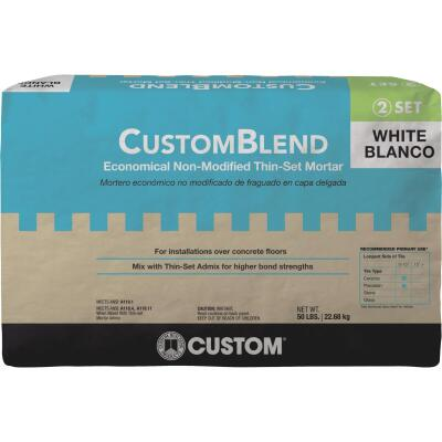 Custom-Blend 50 Lb White Mortar Mix