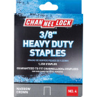 Channellock No. 4 Heavy-Duty Narrow Crown Staple, 3/8 In. (1250-Pack) Image 1