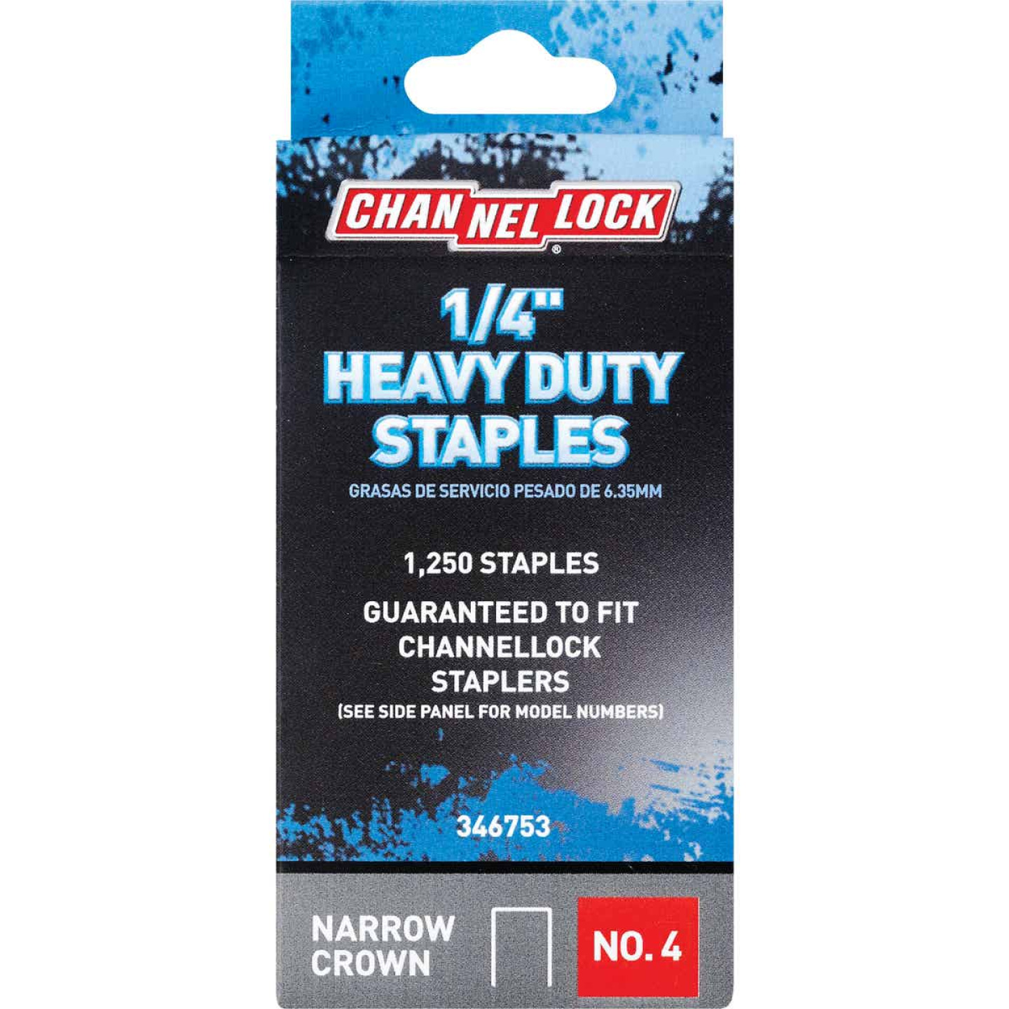 Channellock No. 4 Heavy-Duty Narrow Crown Staple, 1/4 In. (1250-Pack) Image 1