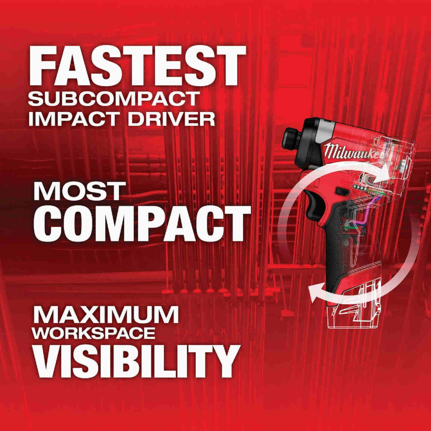 Milwaukee M12 FUEL 12 Volt Lithium-Ion Brushless 1/4 In. Hex Cordless Impact Driver (Bare Tool) Image 2