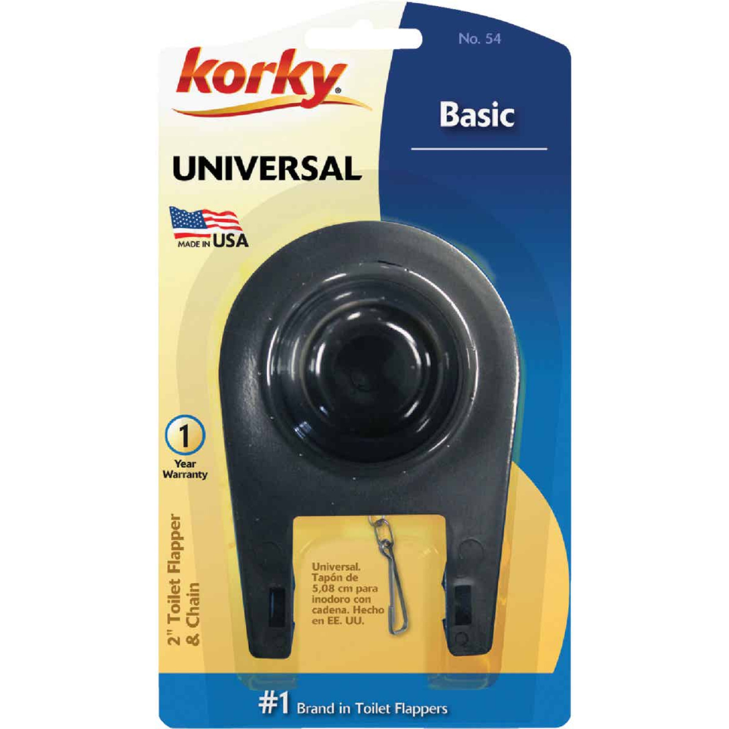 Korky 2 In. Universal Toilet Flapper with Chain  Image 2