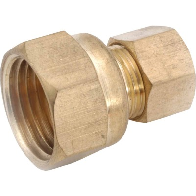 Anderson Metals 5/8 In. x 1/2 In. Brass Union Compression Adapter