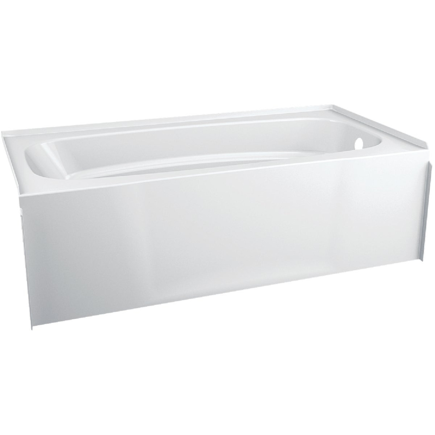 Delta Hycroft 60 In. L x 30 In. W Right Drain Bathtub in White Image 1