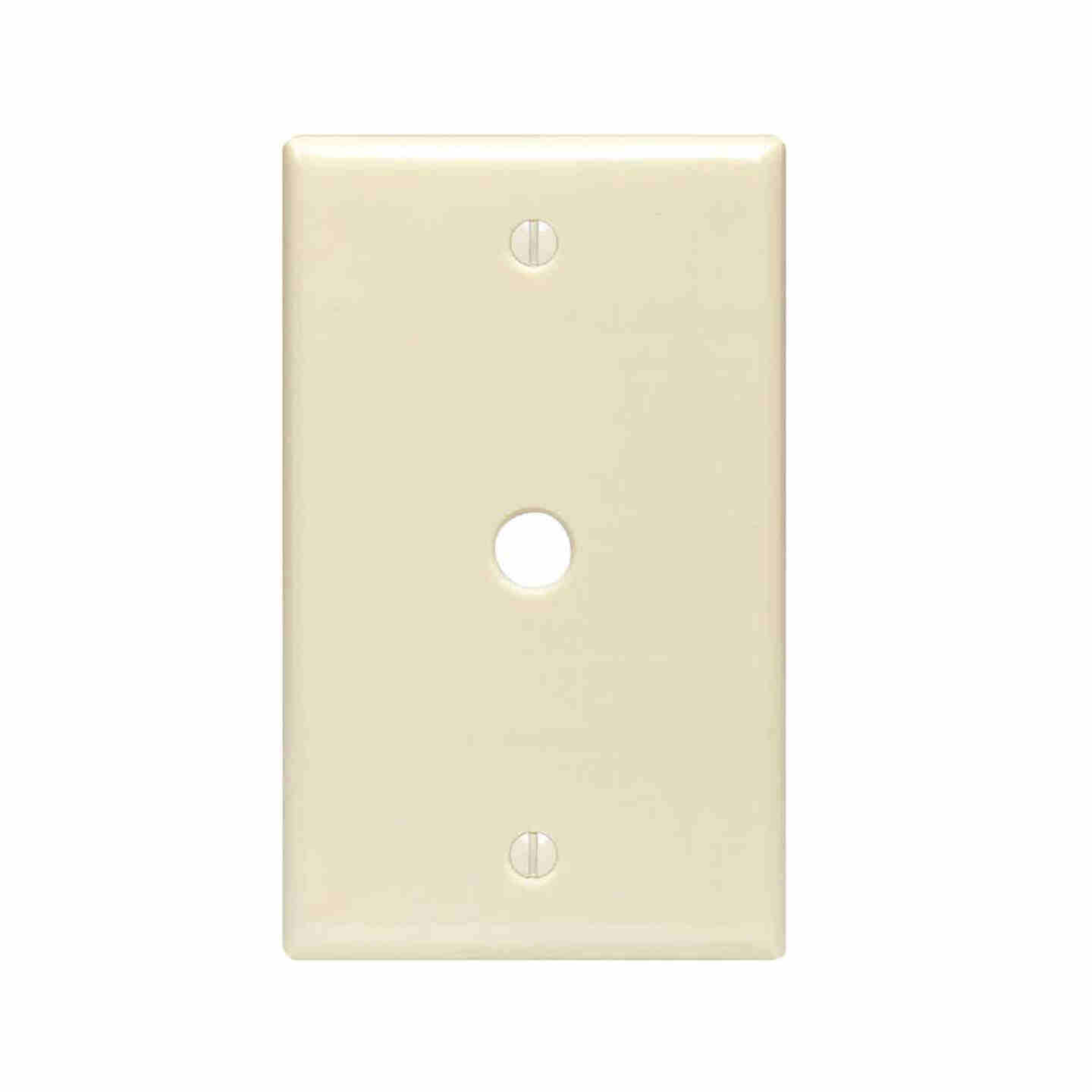Leviton 1-Gang Plastic Ivory Telephone/Cable Wall Plate with 0.312 In. Hole Image 1
