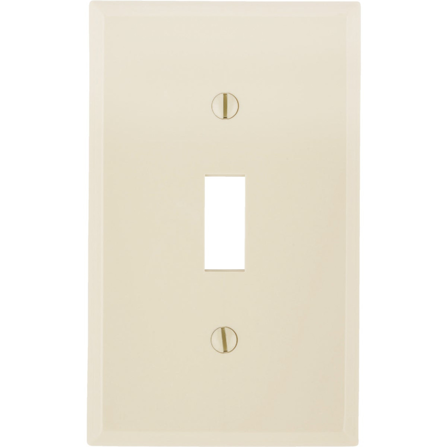 Leviton 1-Gang Thermoplastic Nylon Toggle Switch Wall Plate, Ivory Image 1