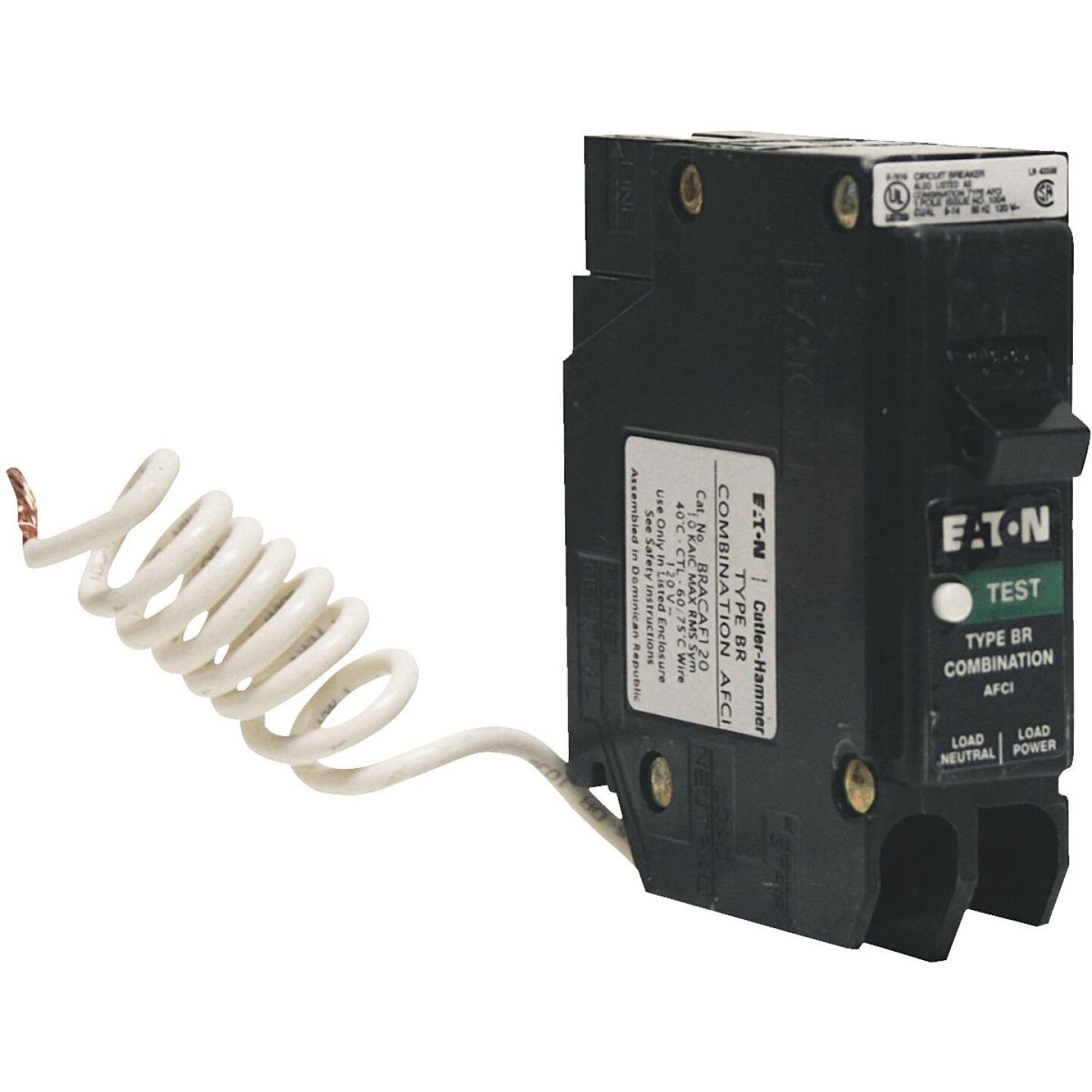 Eaton BR 20A Single-Pole CAFCI Combination Arc Fault Breaker Image 1