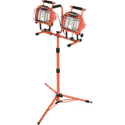 Designers Edge Power Light 19,200 Lm. Halogen Twin Head Tripod Stand-Up Work Light