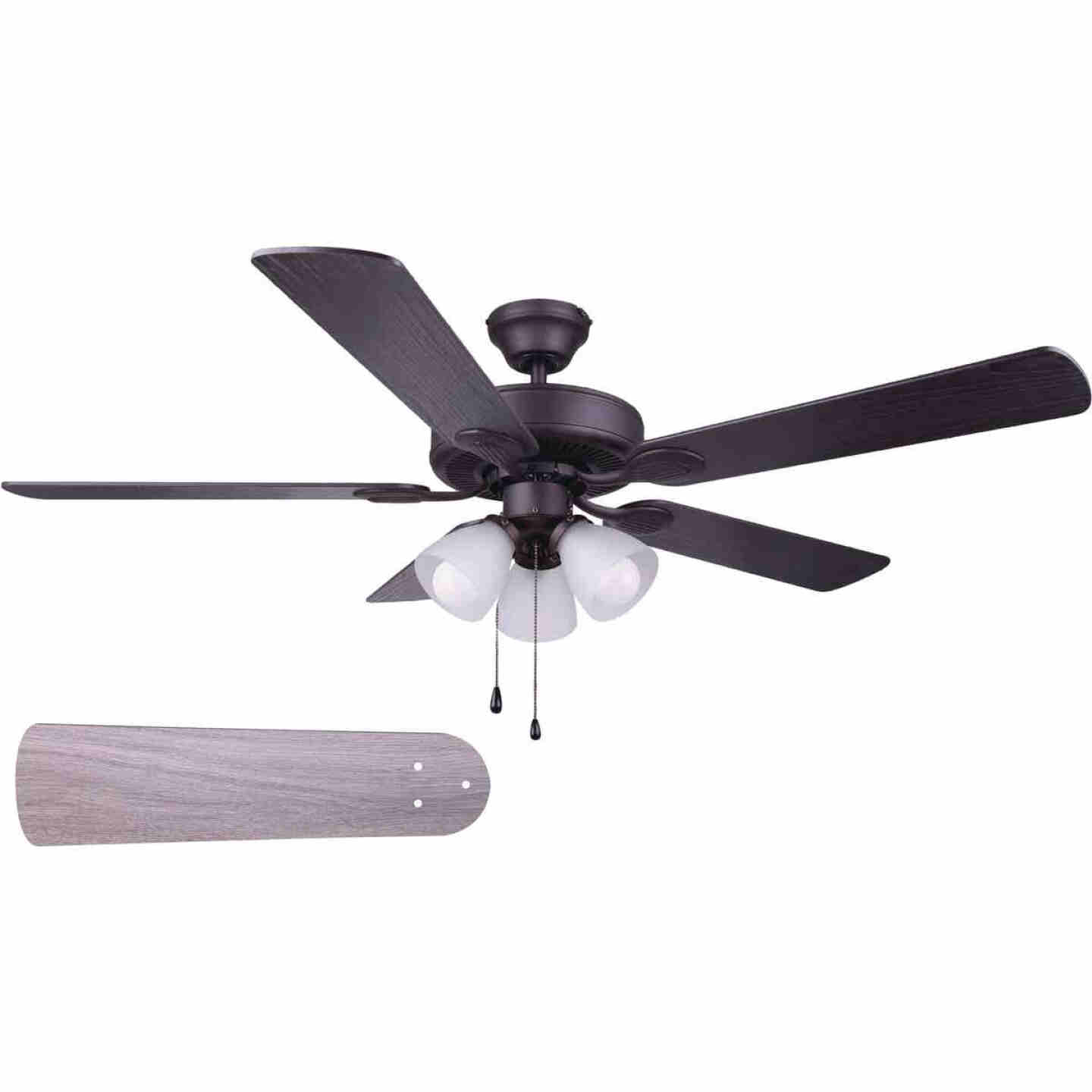 Home Impressions Villa 52 In. Oil Rubbed Bronze Ceiling Fan with Light Kit Image 1