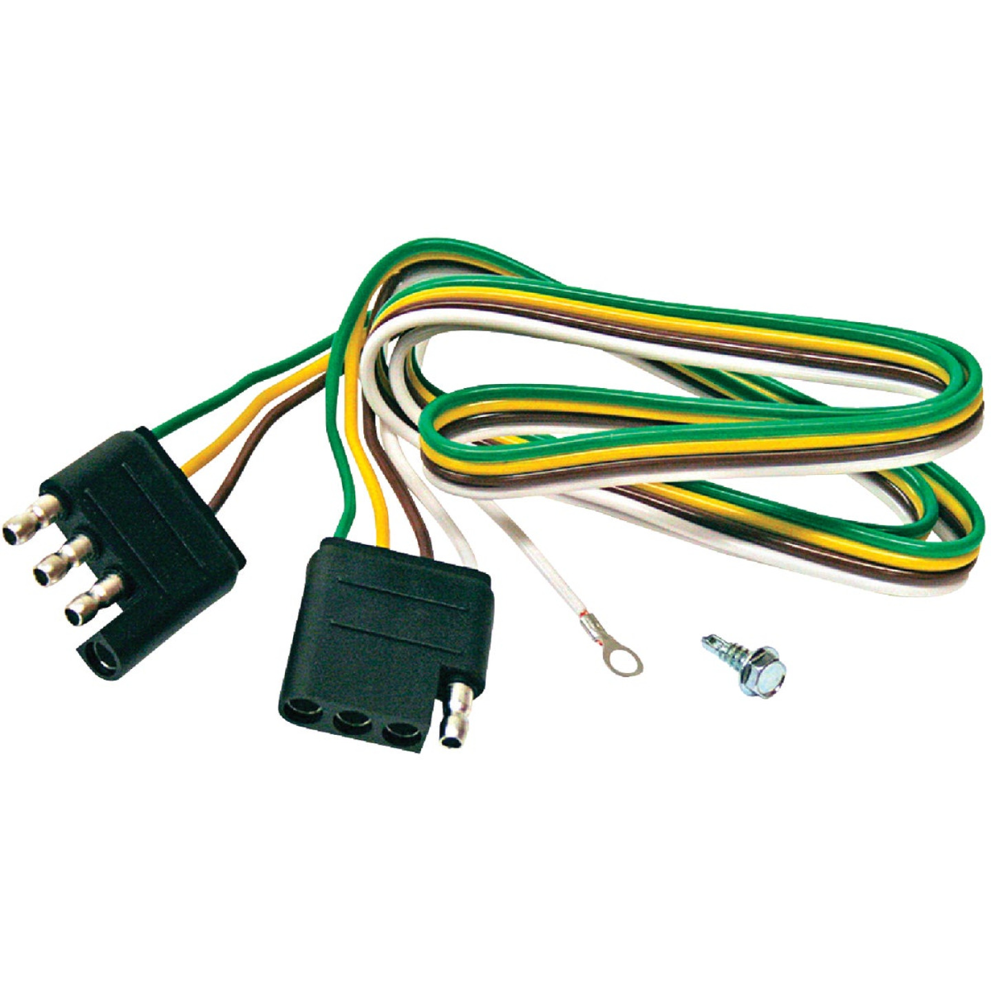 Reese Towpower 4-Flat 36 In. Loop with Ground Eyelet Vehicle/Trailer Connector Set Image 1