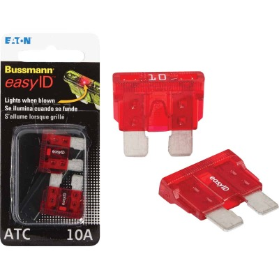 Bussmann 10-Amp 32-Volt ATC Blade Automotive Fuse (2-Pack)