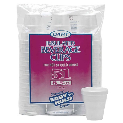 Dart 8.5 Oz. Insulated Beverage Foam Cups (51 Count)