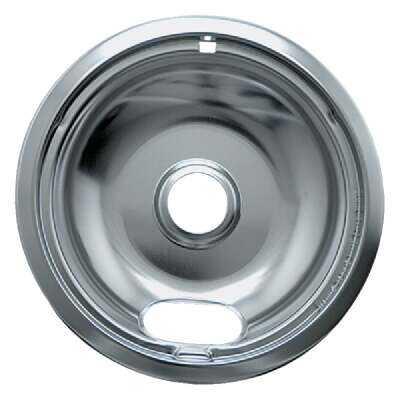 "Range Kleen Electric 8"" Style A Round Chrome Drip Pan"