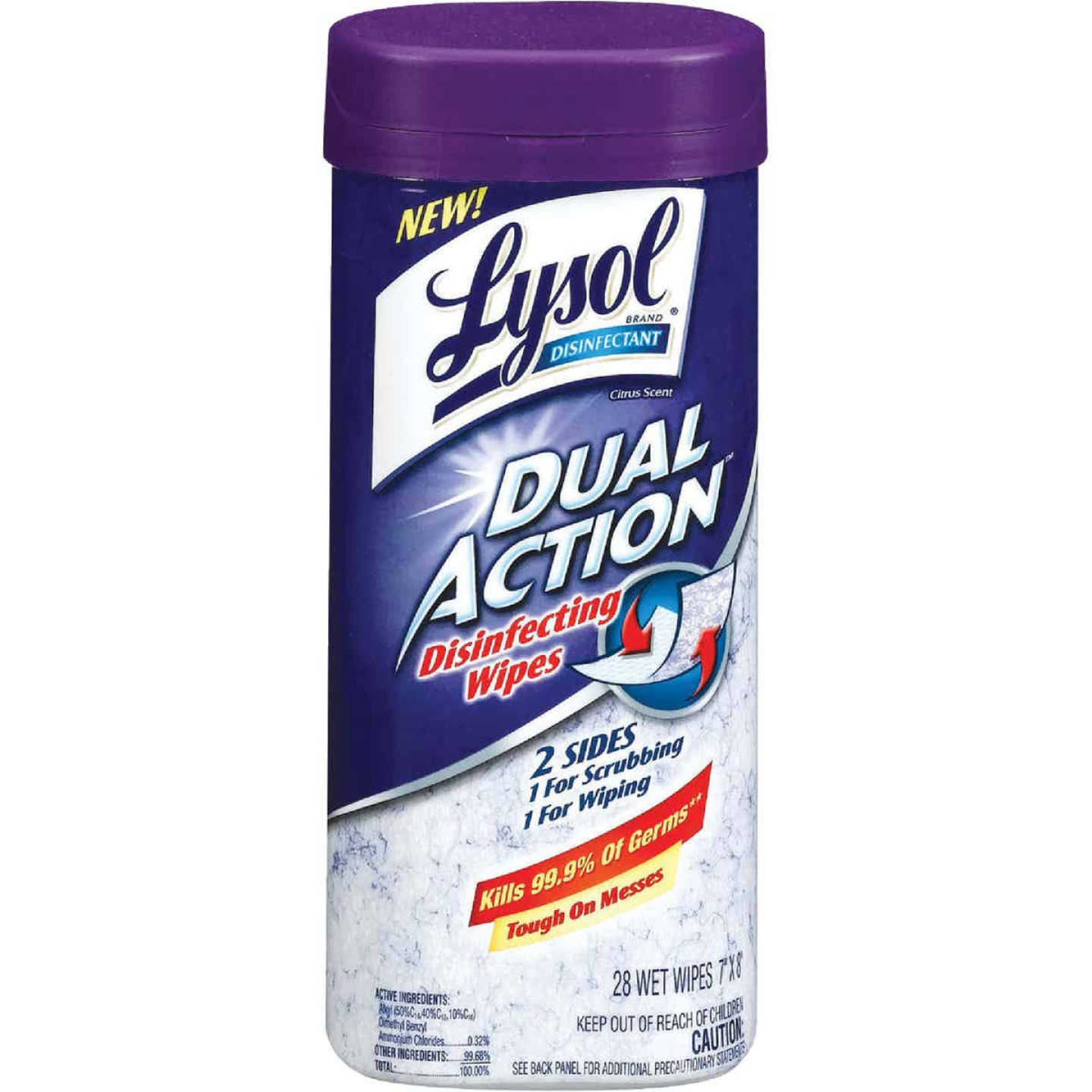 Lysol Dual Action Disinfecting Wipes (28-Count) Image 1