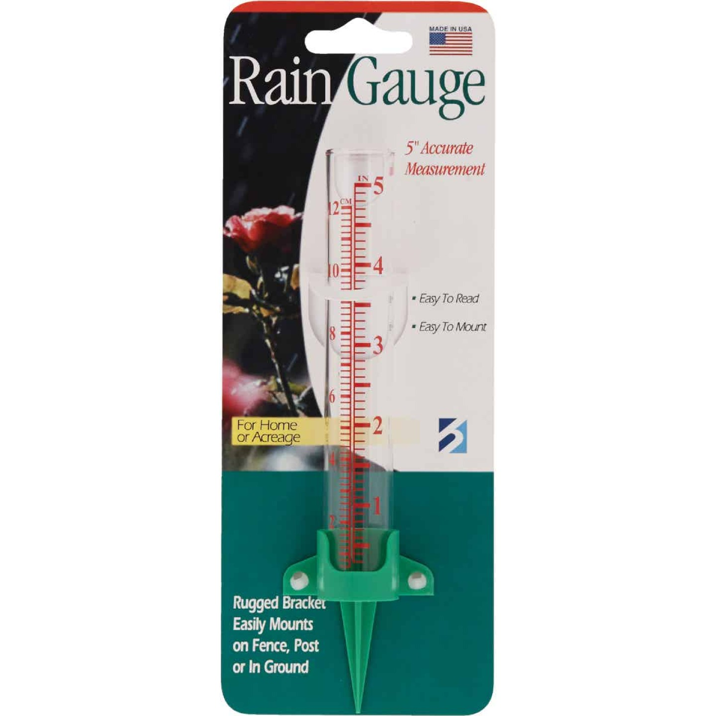 Taylor 5 In. Glass Rain Gauge Image 2