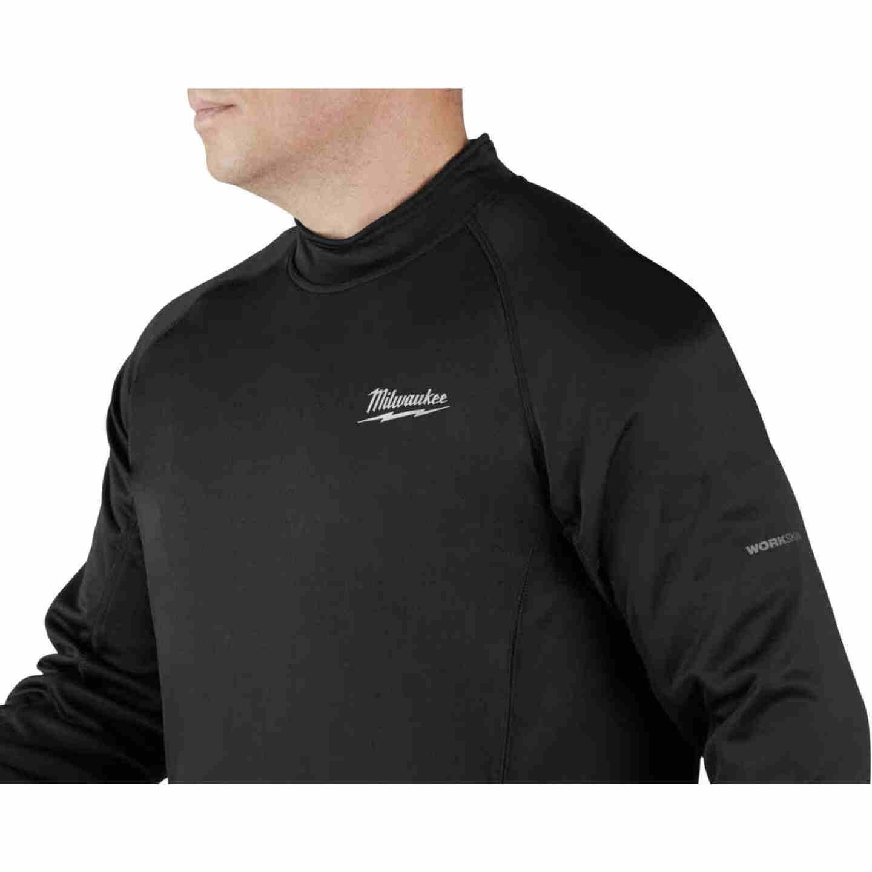 Milwaukee Workskin Medium Black Heated Midweight Base Layer Shirt Image 3