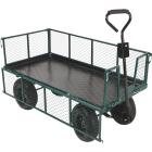 Best Garden 1000 Lb. Steel Garden Cart with Collapsible Sides Image 3