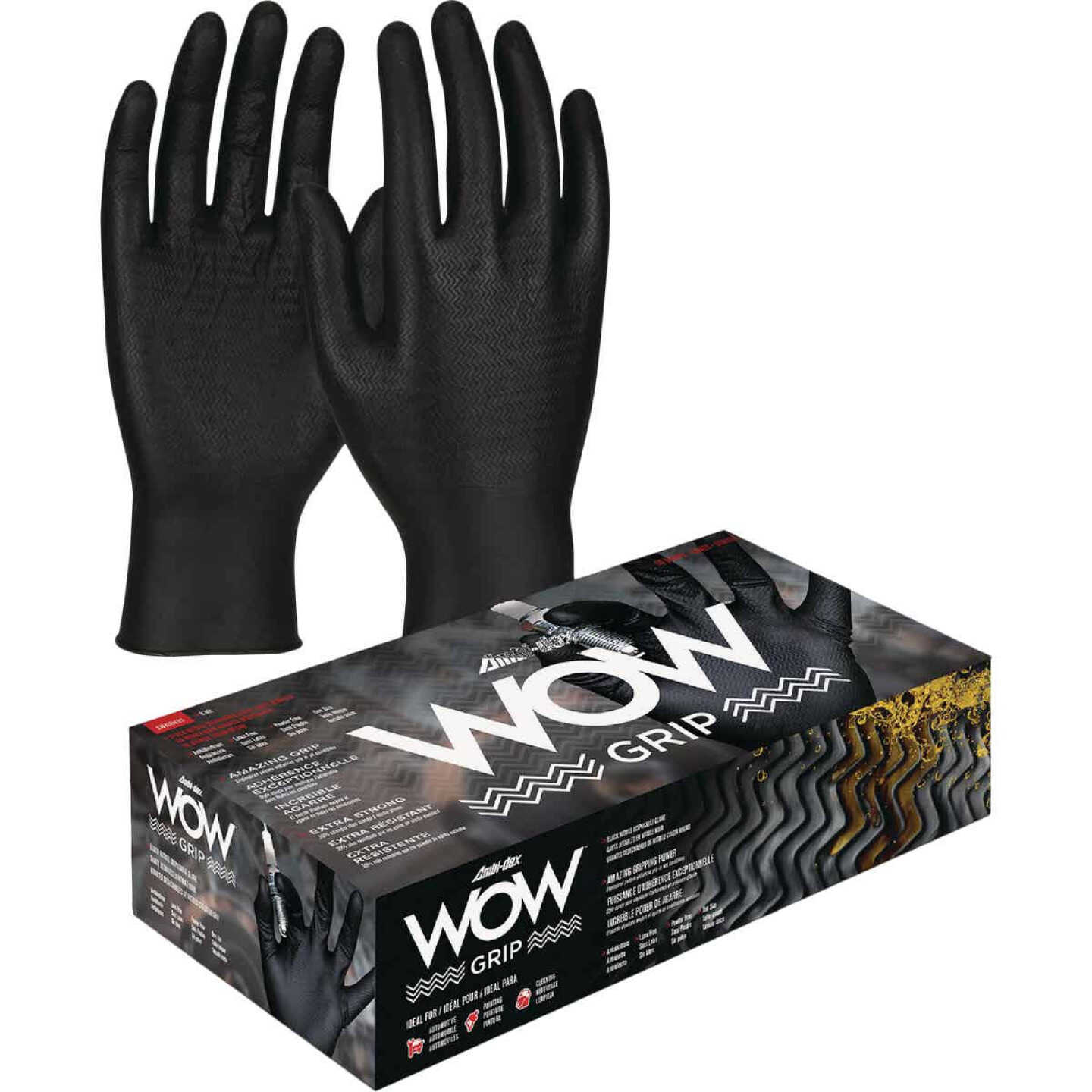 Safety Works Ambi-dex WOW Grip Large Nitrile Disposable Automotive Glove (100-Pack) Image 1