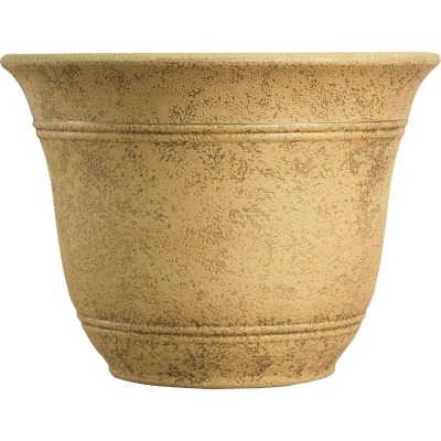 Listo Sierra 11-3/4 In. H. x 16 In. Dia. Arizona Sand Poly Flower Pot