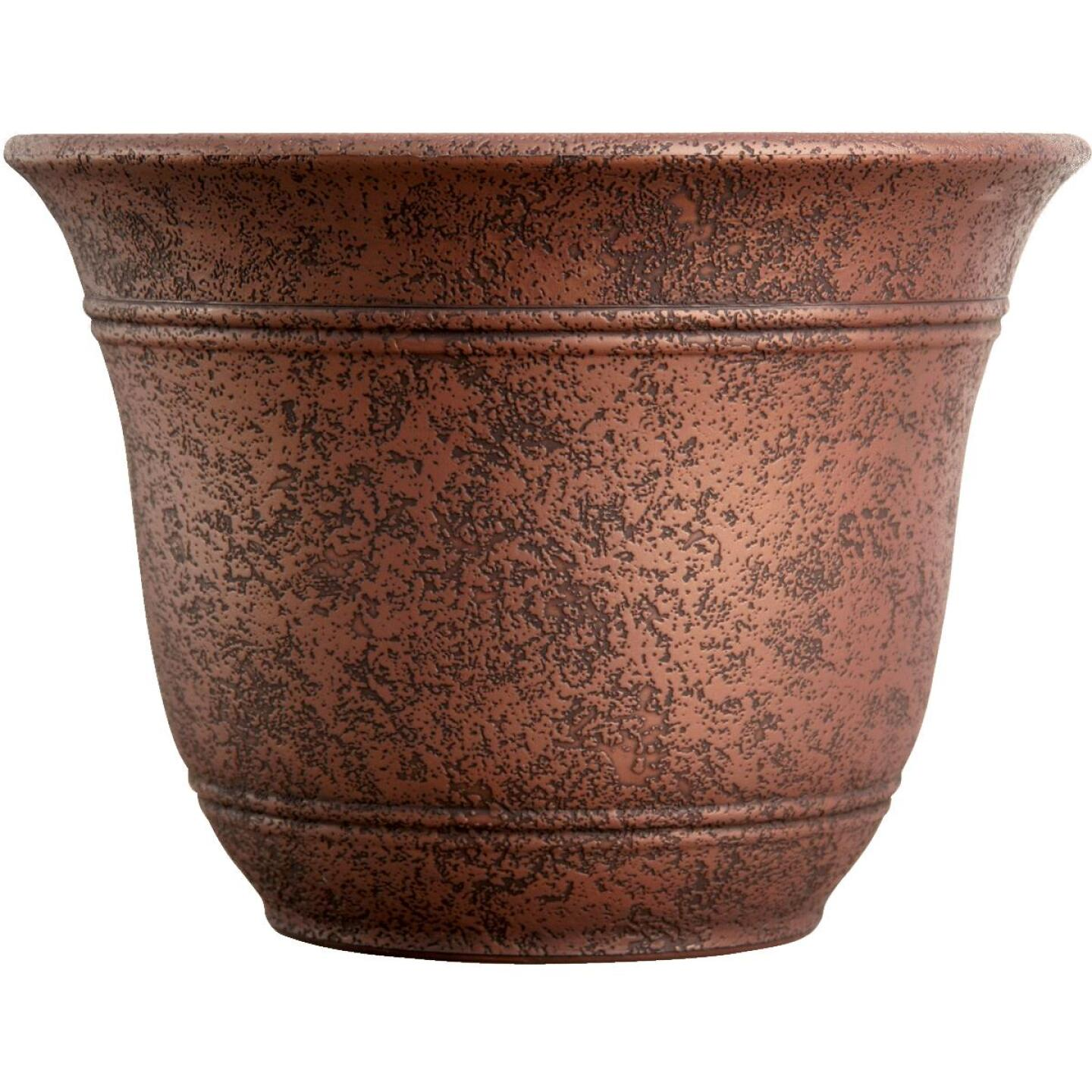 Listo Sierra 7.38 In. H. x 10 In. Dia. Rustic Redstone Poly Flower Pot Image 1