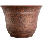 Listo Sierra 11-3/4 In. H. x 16 In. Dia. Rustic Redstone Poly Flower Pot Image 1