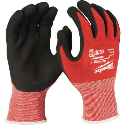 Milwaukee Men's Large Nitrile Coated Cut Level 1 Work Glove
