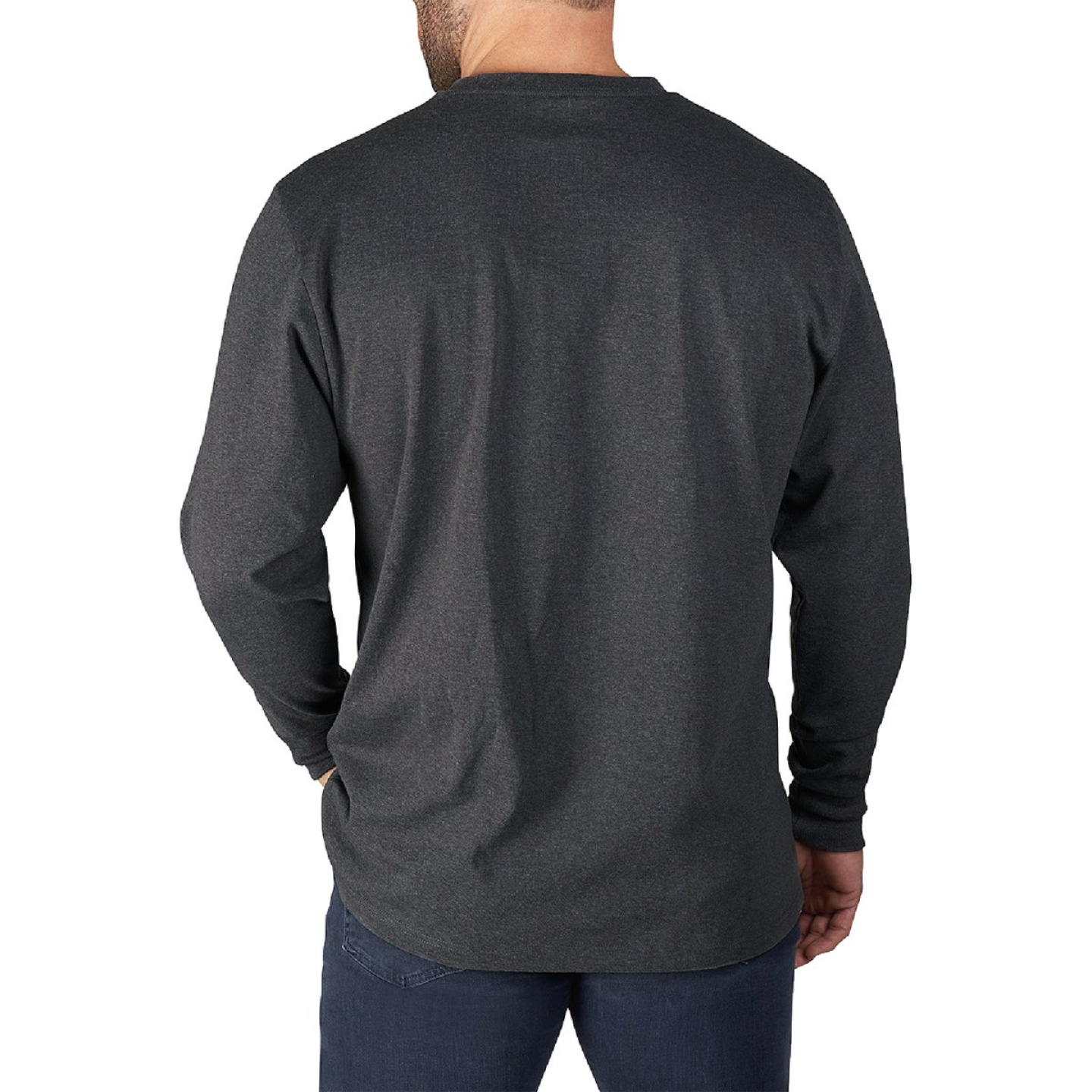 Milwaukee XL Gray Long Sleeve Men's Heavy-Duty Pocket Shirt Image 5